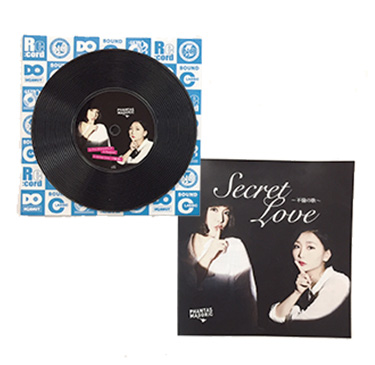シングルレコードコースター